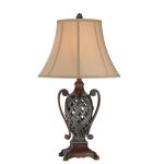 Lite Source Inc. Two-Tone Antique Bronze Dark Bronze Kylemore 1 Light Table Lamp