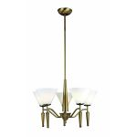 Lite Source Inc. 5-Lite Ceiling Lamp Bronze W/White Glass 60Wx5/B Type