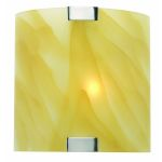 Lite Source Inc. Wall Lamp Ps W/Light Amber Glass Shade 40W/B Type