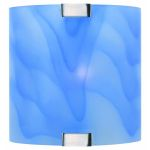 Lite Source Inc. Wall Lamp Ps W/Light Blue Glass Shade 40W/B Type