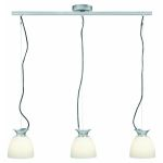 Lite Source Inc. 3-Lite Pendant Lamp Ps W/Frost Glass Shade 60Wx3/A Type