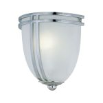 Lite Source Inc. Wall Sconce Chrome/Frost Glass Shade Type Fluor. Gu24 13W
