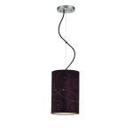 Lite Source Inc. Pendant Lamp Coffee Laser Cut Suede Shade Type A 60W