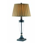 Lite Source Inc. Bronze 1 Light Table Lamp With Pleated Shade