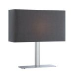 Lite Source Inc. Table Lamp Chrome/Black Fabric Shade E12 Type G 40W