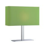 Lite Source Inc. Table Lamp Chrome/Green Fabric Shade E12 Type G 40W