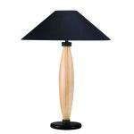 Lite Source Inc. Wood Table Lamp L. Natural W/Blk Fabric Shade 150W A Type