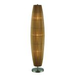 Lite Source Inc. Floor Lamp Ab/Amber Organza Shade E12 Type B 60Wx3