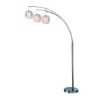 Lite Source Inc. 3-Lite Arch Lamp Ps W/White Shade E27 Type A 60Wx3