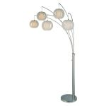 Lite Source Inc. 5-Lite Arch Lamp Ps W/White Shade Type A 60Wx5