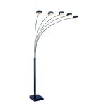 Lite Source Inc. 5-Lite Arch Lamp W/Marble Base Black Type G 40Wx5