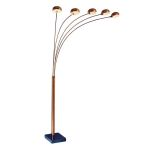Lite Source Inc. 5-Lite Arch Lamp Bronze Type G 40Wx5