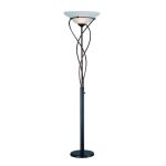 Lite Source Inc. Torchiere W/Large Swirl Dark Brozne/Cloud Glass A 150W