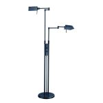 Lite Source Inc. Twin Arm Halogen Floor Lamp Dark Bronze 100Wx2 J Type