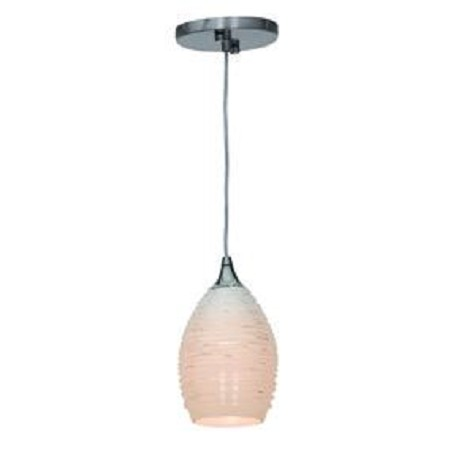 Access Brushed Steel  Single Light Down Lighting Mini Pendant From The Adele Collection