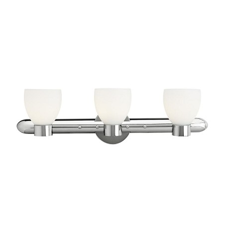 Access Opal Three Light Up Lighting 26In. Wide Bathroom Fixture