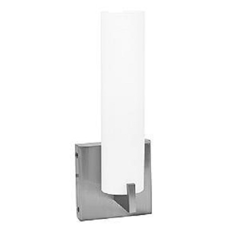 Access Brushed Steel / Opal Oracle 1 Light Bathroom Sconce
