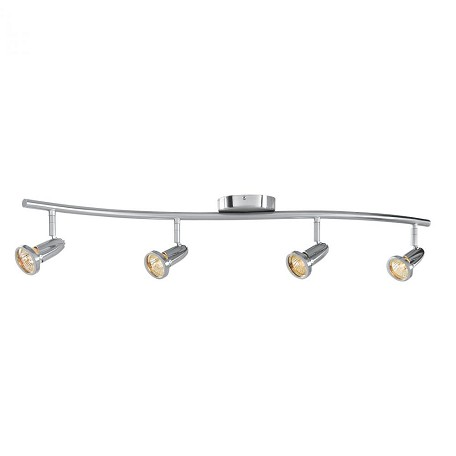 Access Brushed Steel Cobra 4 Light Ceiling Or Wall Spotlight