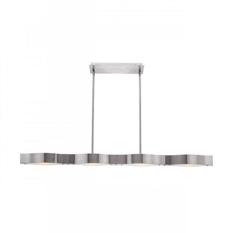 Access Frosted Four Light Down Lighting Dual Mount Ceiling Fixture From Titanium