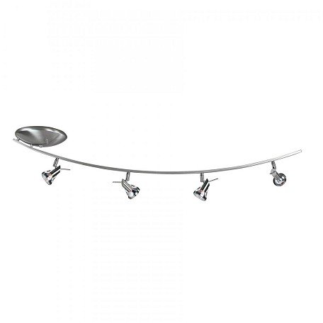 Access Matte Chrome 4 Light Down Lighting Offset Semi Flush Spotlight Ceiling Fixture