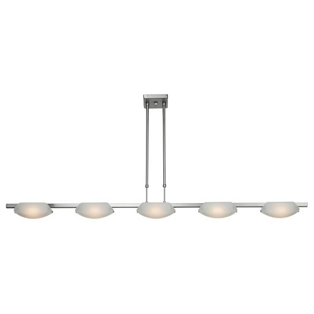 Access Frosted Nido 5 Light Linear Pendant