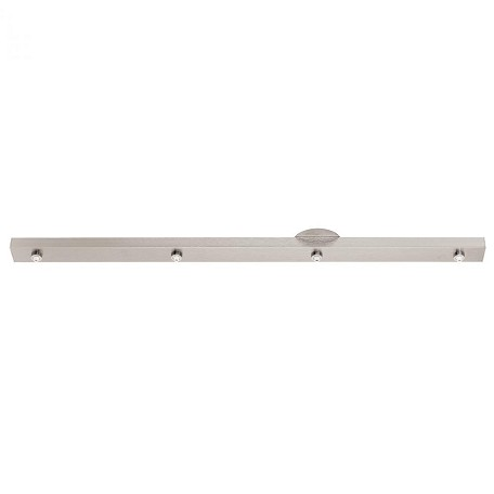 Access Brushed Steel Four Light Track Bar From The Unijack Collection