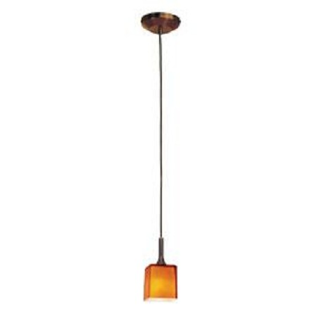 Access Bronze / Amber Delta 1 Light Mini Pendant