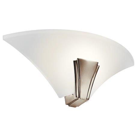 Kichler Polished Nickel 1 Light Fluorescent Up Lighting Wall Sconce