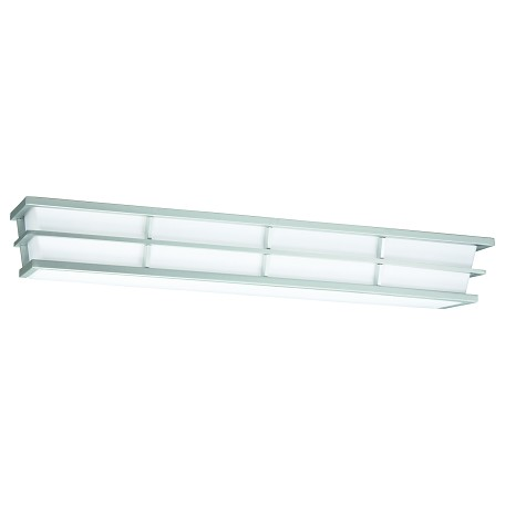 Kichler Silver Pavilion 28.38In. Wide 2-Bulb Bathroom Lighting Fixture