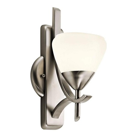 Kichler Antique Pewter Modern Single Light Wall Sconce From The Olympia Collection