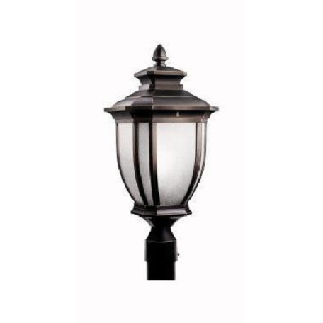 Kichler Rubbed Bronze Fluorescent 1 Light Post Light From The Salisbury Collection