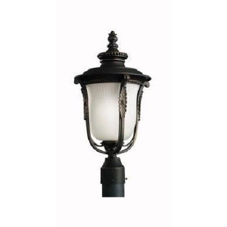 Kichler Rubbed Bronze Energy Star 1 Light Outdoor Post Mounted Fixture Rubbed Bronze 11035rz
