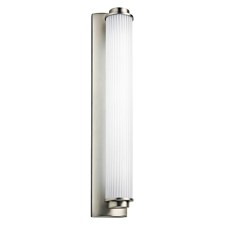 Kichler Satin Nickel Allegre 4.5In. Wide Single-Bulb Bathroom Lighting Fixture