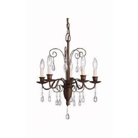 Kichler Tannery Bronze Barcelona Single-Tier Mini Chandelier With 5 Lights