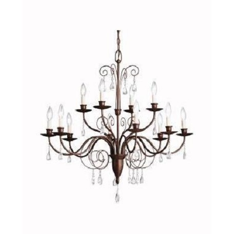 Kichler Tannery Bronze Barcelona 2-Tier Candle-Style Chandelier With 12 Lights