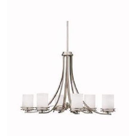 Kichler Kichler 1673Ni Brushed Nickel Hendrik Single-Tier  Chandelier With 6 Lights