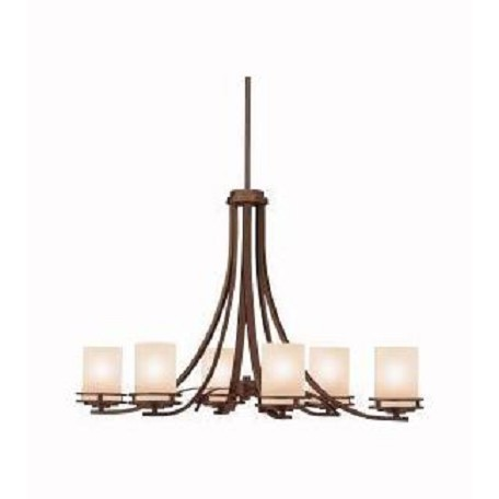 Kichler Six Light Olde Bronze Up Chandelier