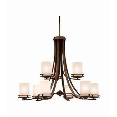Kichler Nine Light Olde Bronze Up Chandelier