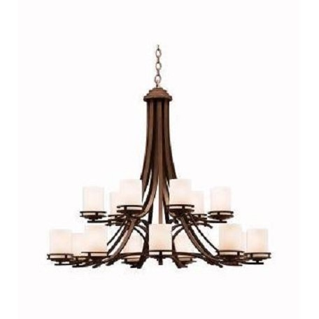 Kichler Fifteen Light Olde Bronze Up Chandelier
