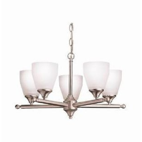 Kichler Kichler 1748Ni Brushed Nickel Ansonia Single-Tier  Chandelier With 5 Lights