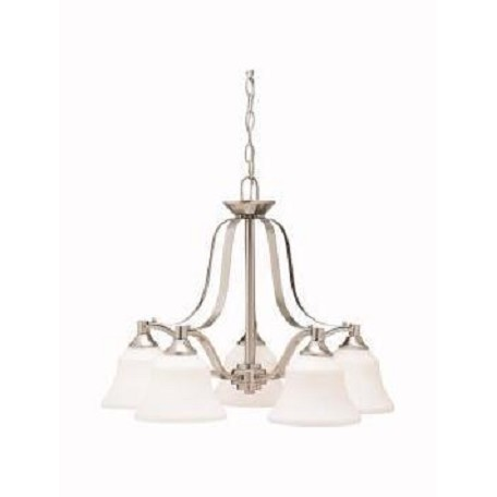 Kichler Kichler 1782Ni Brushed Nickel Langford Single-Tier  Chandelier With 5 Lights