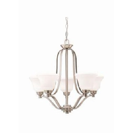 Kichler Kichler 1783Ni Brushed Nickel Langford Single-Tier  Chandelier With 5 Lights