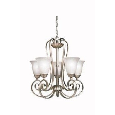 Kichler Kichler 1827Ni Brushed Nickel Willowmore Single-Tier  Chandelier With 5 Lights