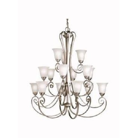 Kichler Kichler 1829Ni Brushed Nickel Willowmore 3-Tier  Chandelier With 15 Lights