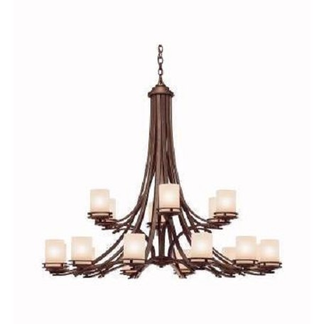 Kichler Eighteen Light Olde Bronze Up Chandelier