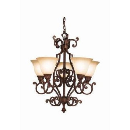 Kichler Tannery Bronze With Gold Larissa Single-Tier  Chandelier With 5 Lights