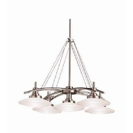 Kichler Brushed Nickel Structures Single-Tier Oval Chandelier With 5 Lights