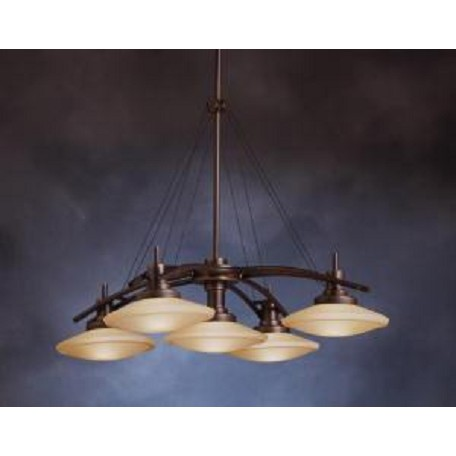 Kichler Five Light Olde Bronze Down Chandelier