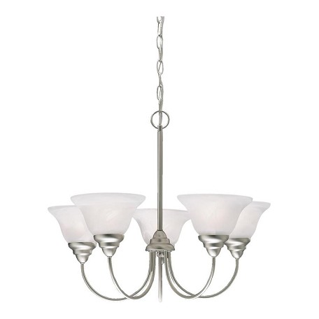 Kichler Kichler 2076Ni Brushed Nickel Telford Single-Tier  Chandelier With 5 Lights
