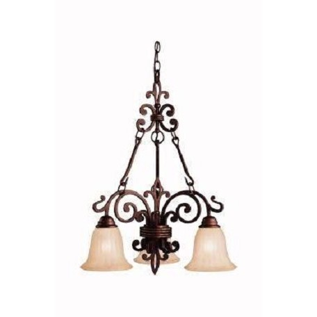 Kichler Kichler 2088Cz Carre Bronze Wilton Single-Tier  Chandelier With 3 Lights